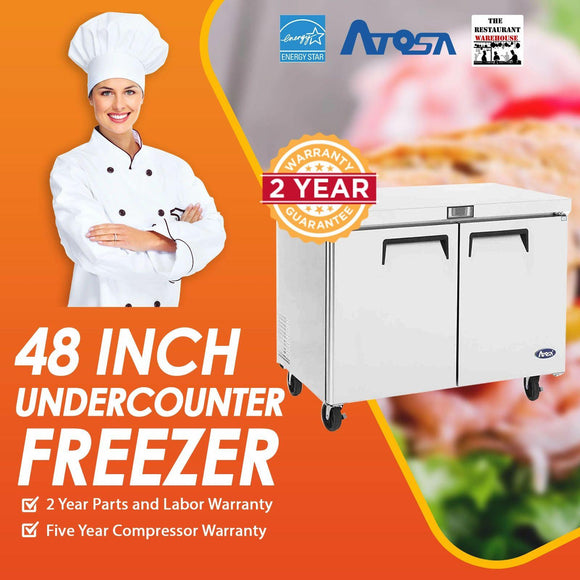 Atosa USA MGF8406 Undercounter 48-Inch Two Door Freezer