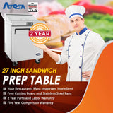 Atosa MSF8301 27-Inch Sandwich Prep Table