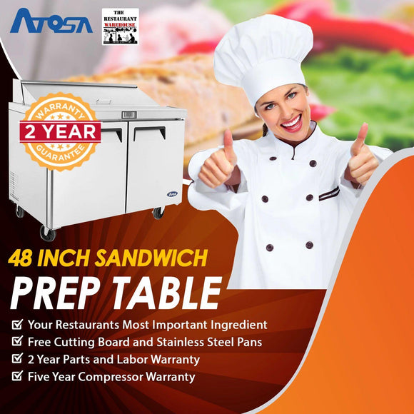 Atosa USA MSF8302 48-Inch Sandwich Prep Table
