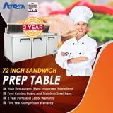 Atosa MSF8304 72-Inch Sandwich Prep Table