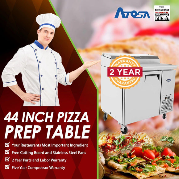 Atosa USA MPF8201 44 inch Pizza Prep Table