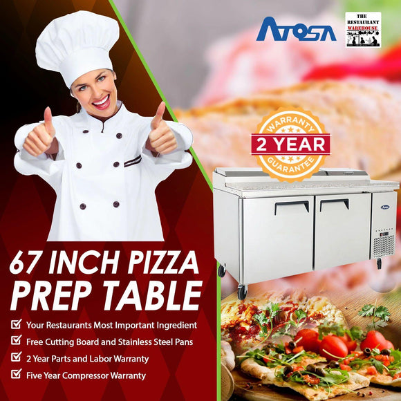Atosa MPF8202 67 inch Pizza Prep Table