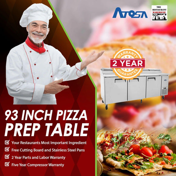 Atosa MPF8203 93-Inch Pizza Prep Table