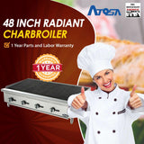 Atosa USA ATRC-48 Heavy Duty Stainless Steel 48-Inch Radiant Broiler - Propane
