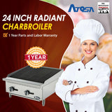 Atosa USA ATRC-24 Heavy Duty Stainless Steel 24-Inch Radiant Broiler - Natural Gas