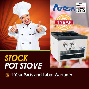 Atosa USA ATSP-18-1L 18-Inch Low Stock Pot Stove - Propane