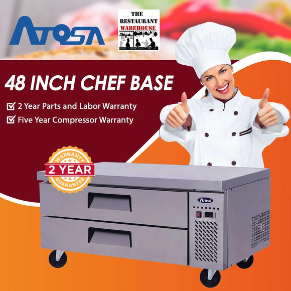 Atosa USA MGF8450 48-Inch Chef Base Refrigerated Equipment Stand
