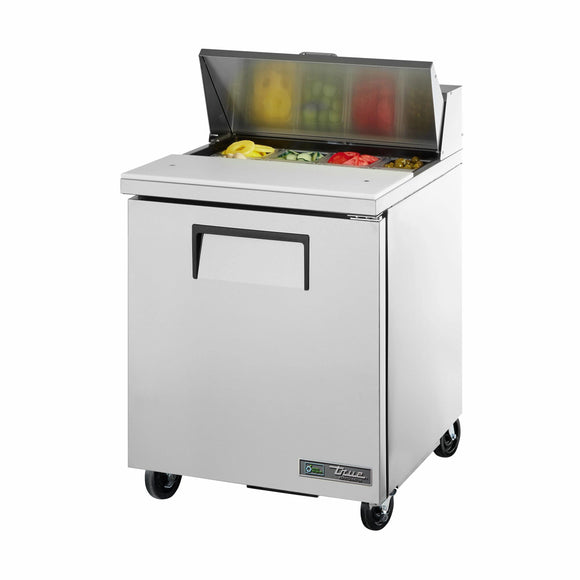 True TSSU-27-08-HC 27 inch Sandwich Prep Table - Salad Preparation Refrigerator