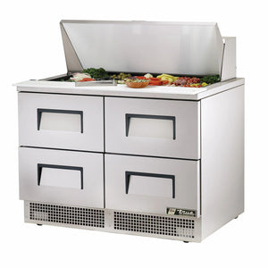True TFP-48-18M-D-4 48 inch Mega Top Sandwich Prep Table
