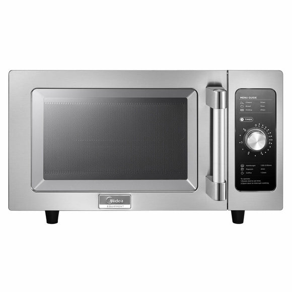 Midea 1025F0A 1000 Watts Commercial Microwave Oven - 0.9 cu. ft.