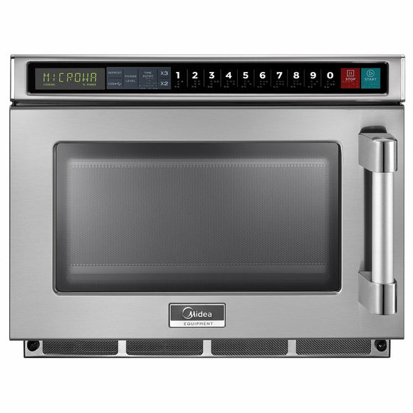Midea 1217G1A 1200 Watts Commercial Microwave Oven - 0.6 cu. ft.