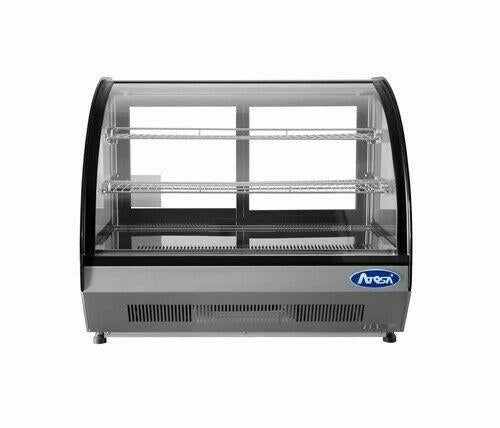 Atosa USA CRDC-46 Countertop Refrigerated Display Case Curved 4.6 cu. ft.