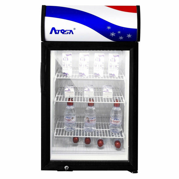 Atosa USA CTD-3S Countertop Refrigerated Merchandiser 3 cu. ft.
