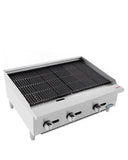 Atosa USA ATRC-36 Heavy Duty Stainless Steel 36-Inch Radiant Broiler - Natural Gas