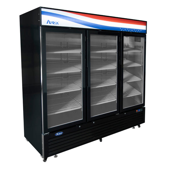 Atosa USA MCF8728GR Three Door Glass Merchandiser Freezer
