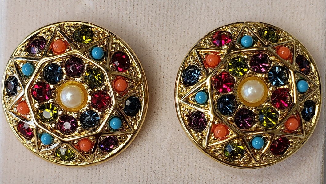 D'Orlan Buried Treasure Pierced Earring