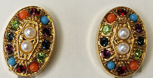 D'Orlan Buried Treasure Clip Earrings.