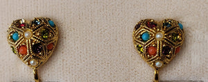 D'Orlan Buried Treasure Clip Earrings