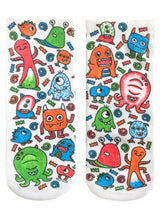 Load image into Gallery viewer, Color-In Socks Monster Party