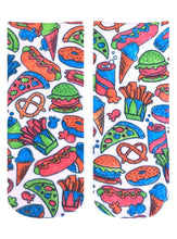 Load image into Gallery viewer, Color-In Socks Snack Attack