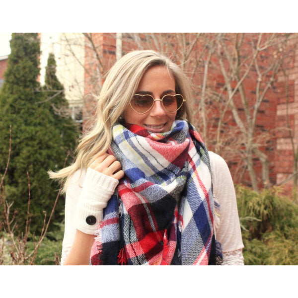 Tradition Plaid Blanket Scarf