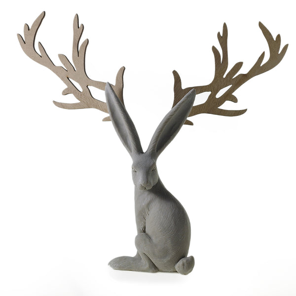 Antler Bunny Holiday Decor