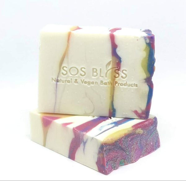SOS BLISS Natural and Vegan Bath Products - Hugs And Kisses - Apple Sage Soap