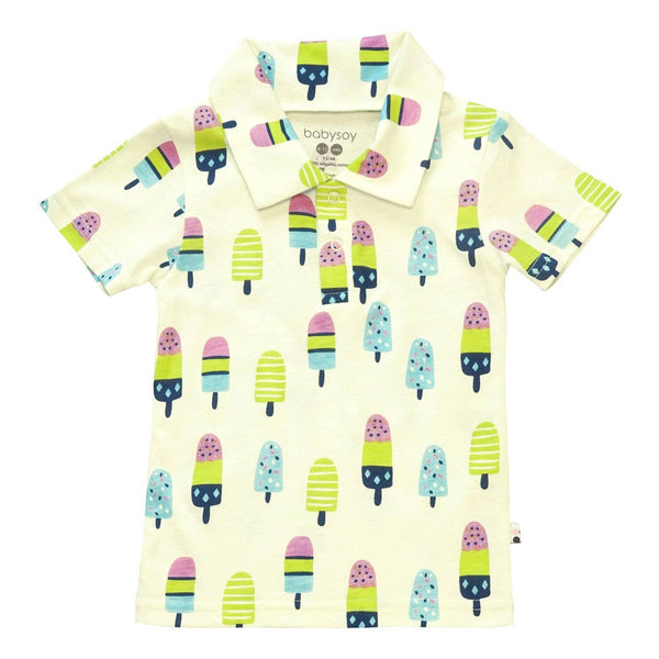 Babysoy Inc - Babysoy Short Sleeve Polo Tee - Popsicles