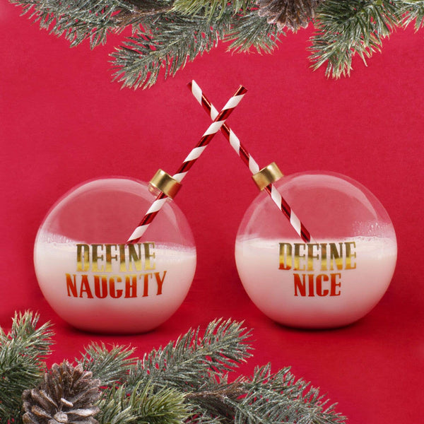 Ornament Glasses (2) - Naughty / Nice
