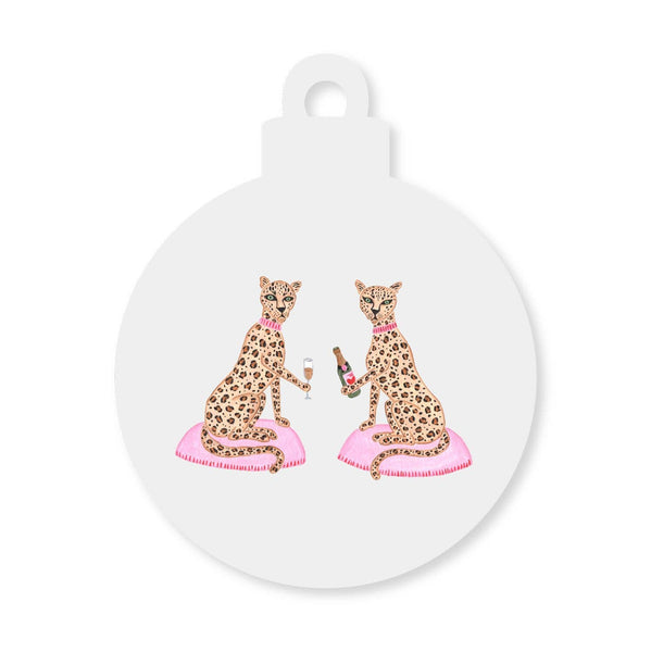 Zoe and Chloe Wine Hanger Ornament art by Willa Heart