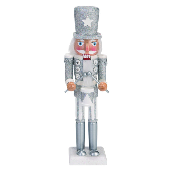 White Wood Christmas Whimsical Nutcracker Decor
