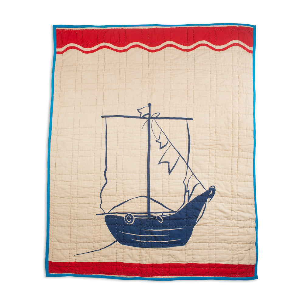 Hooked Pirate Ship Baby Quilt