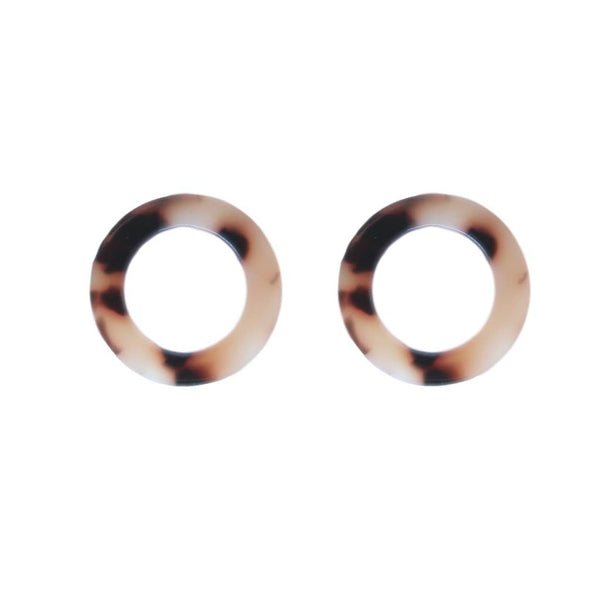 Mini Tortoise Open Circle Studs