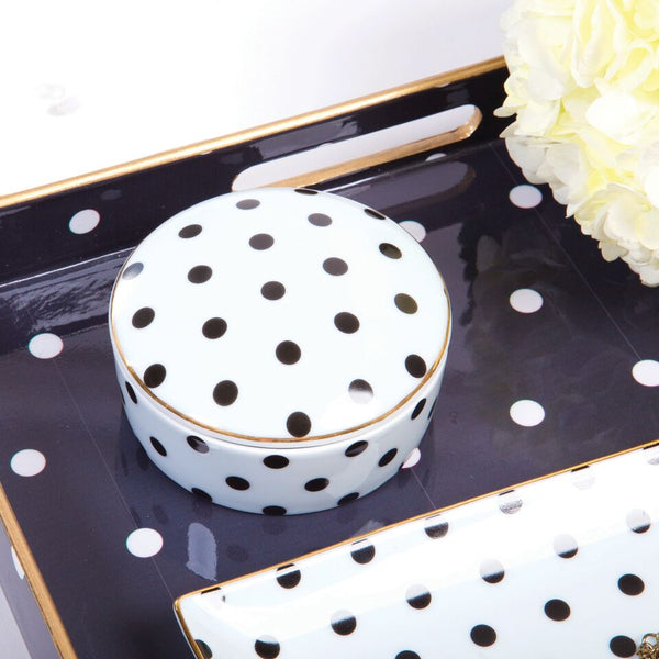 Black Dot Trinket Box