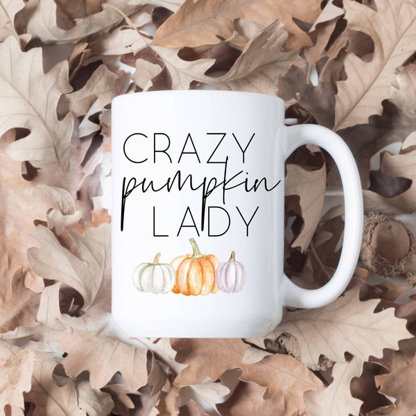 Crazy Pumpkin Lady Fall / Autumn Mug