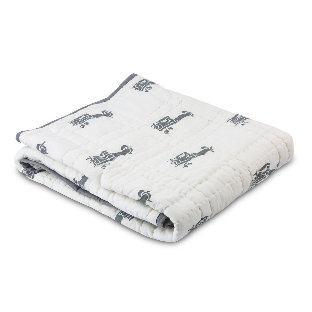 Airplane Tej Baby Blanket - Gray