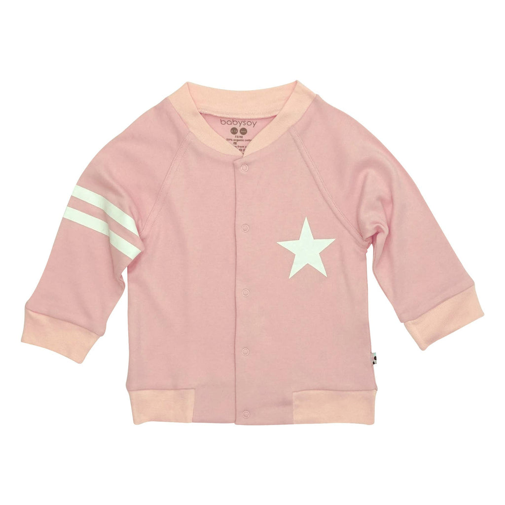 All-Star Varsity Bomber Jacket-Peony