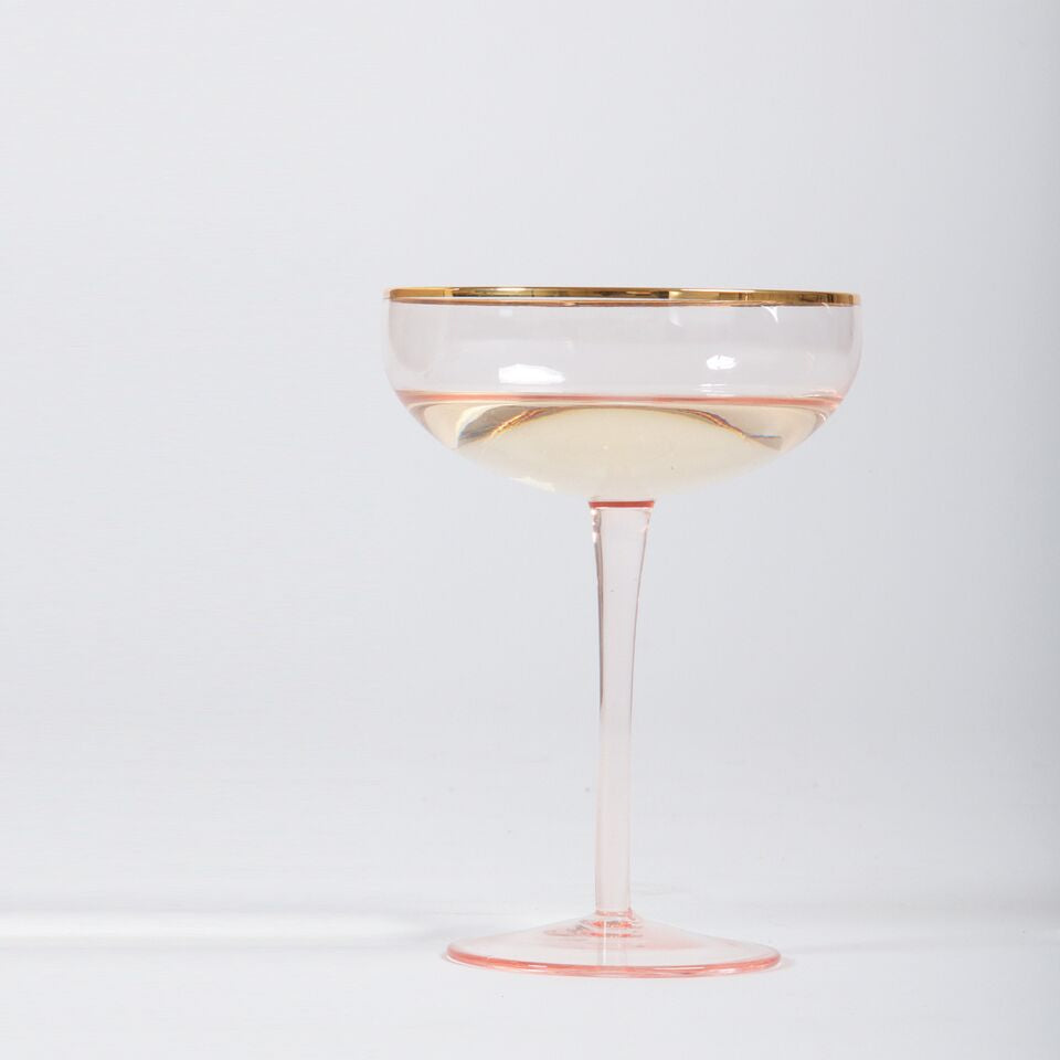 Light Pink Coupe Glass (set of 2)