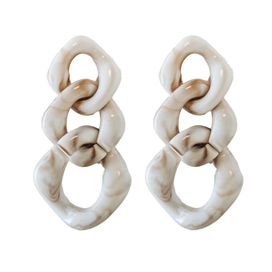 Lucite Chain Drops - Cream
