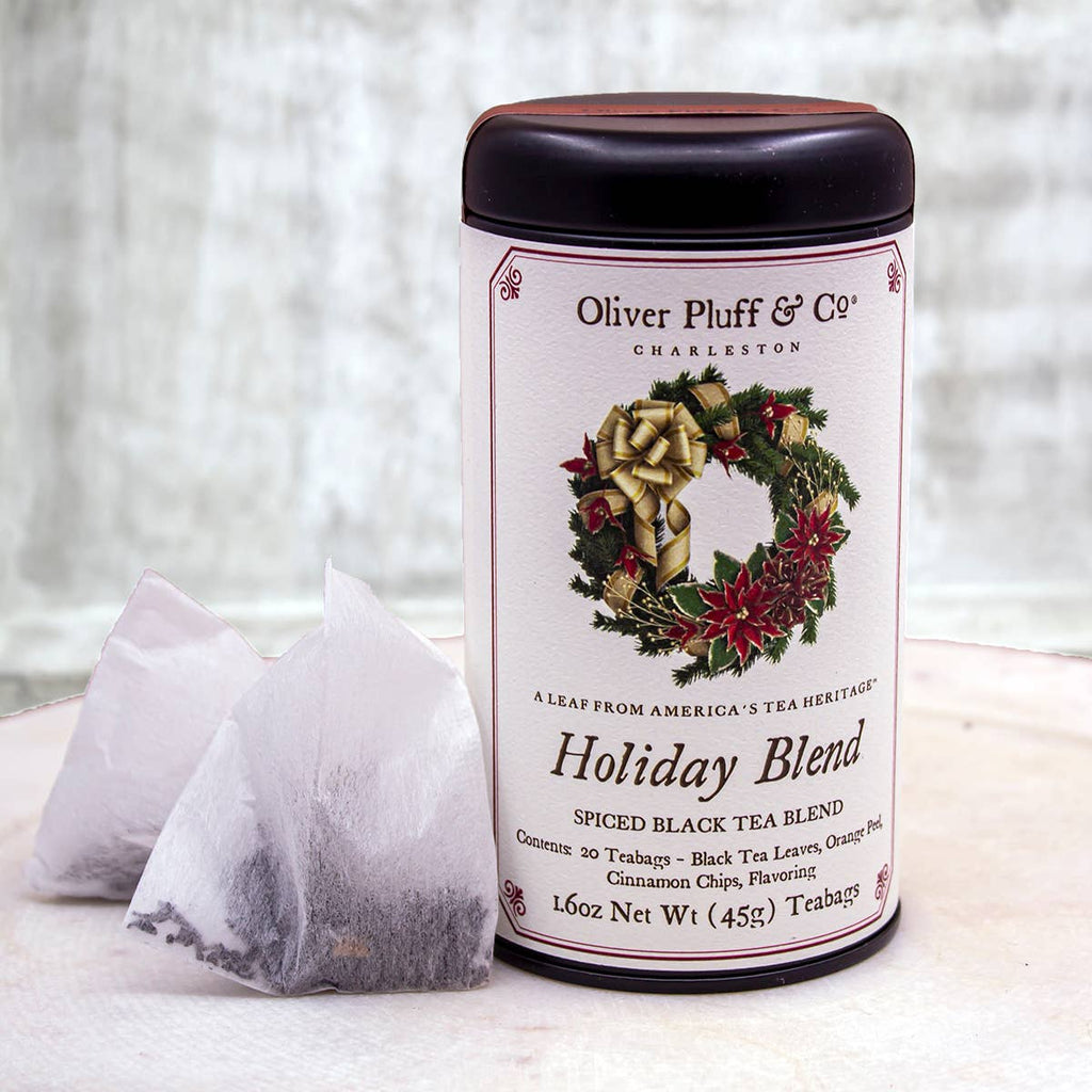 Oliver Pluff's Holiday Blend - Tea Bags in Signature Tea Tin
