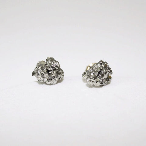 Rough Pyrite Studs