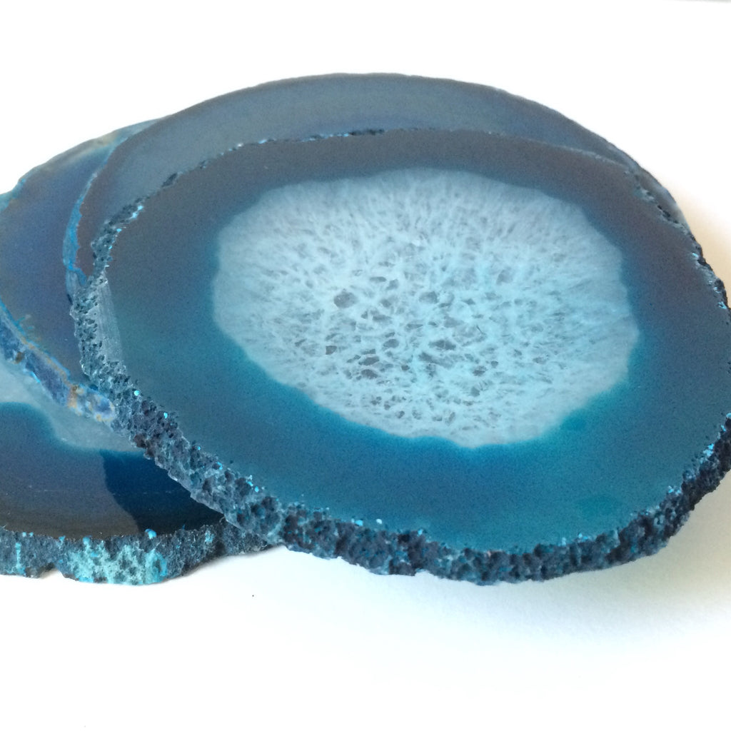 Agate coasters with natural edge