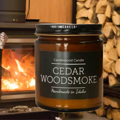 CEDAR WOODSMOKE Candle 9 oz
