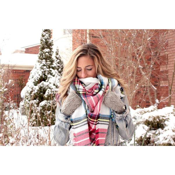 Espanol Plaid Blanket Scarf