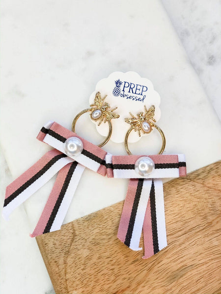 "Pearl ""Bee's Knees"" Ribbon Dangles"