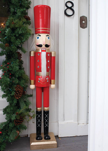 4 Ft Wood Nutcracker