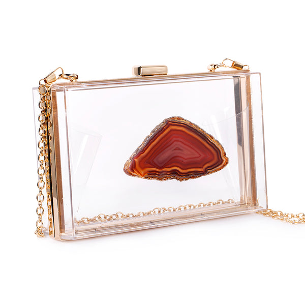 AGATE GAME DAY CLUTCH - AMBER