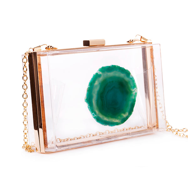 AGATE GAME DAY CLUTCH - GREEN