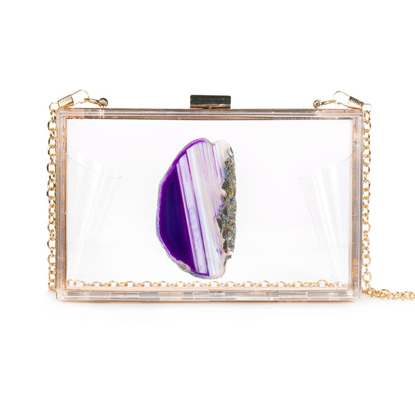 AGATE GAME DAY CLUTCH - PURPLE