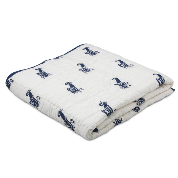 Airplanes Tej Baby Quilt - Navy